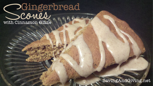 Gingerbread Scones with Cinnamon Glaze {Perfect for Christmas Breakfast or Any Day!} | TheSimplePen.com